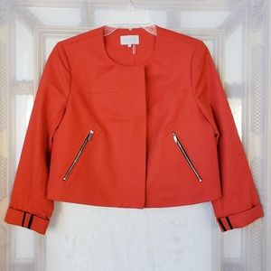 1. State Cropped Zip Closed Cropped Jacket